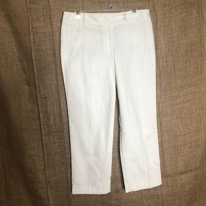 Ann Taylor LOFT SZ 6 White Pants Fit NWT Beach